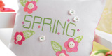Card Making Ideas : Spring Cross-stitched Cushion & Tag