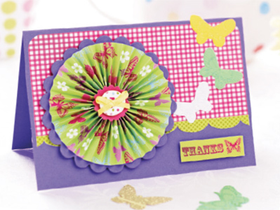 Scalloped Circles Card - C