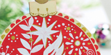 Card Making Ideas : Pen Painted Wooden Blank Christmas Decorations