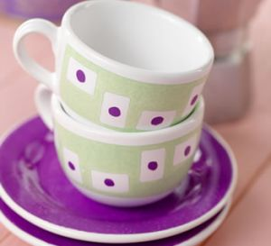 Stylish Ceramic Painted Mug Set