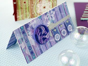 Quilled  & Stamped Funky Christmas Cards