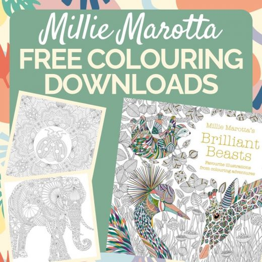 Millie Marotta Free Colouring Downloads