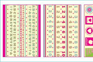 Crafts Beautiful August 2008 Template Pack & Free Papers