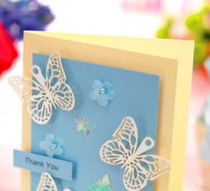 Butterfly Wedding Thank You Card
