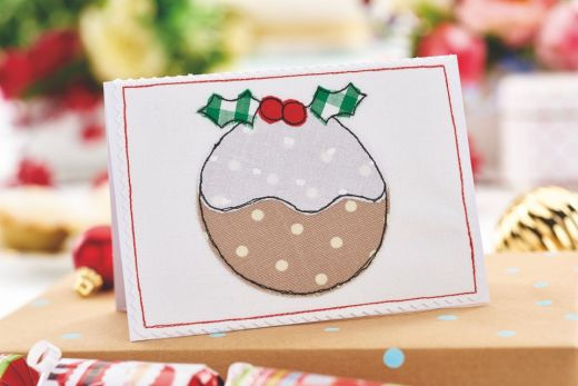 Fabric Appliqué Christmas Cards