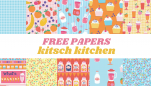 Free Kitsch Kitchen Papers
