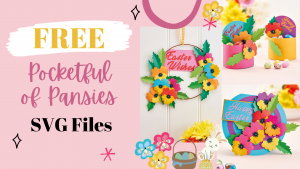 FREE Pocketful of Pansies SVG File
