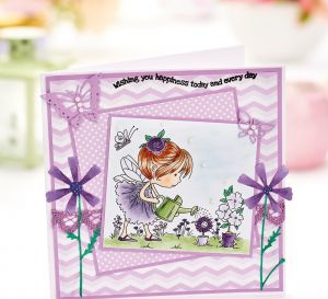 Layered Flower Fairy Greeting