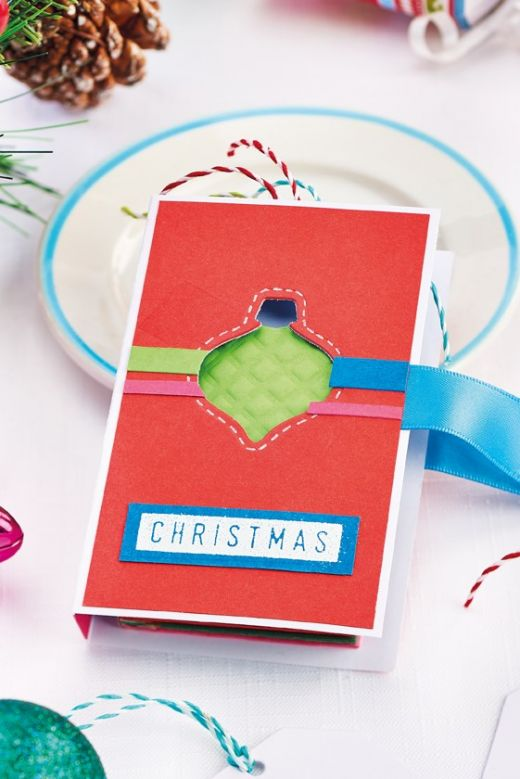 Contemporary Die-Cut Christmas Cards