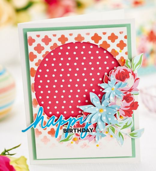 Vintage-Inspired Flower Birthday Cards & Gift Box