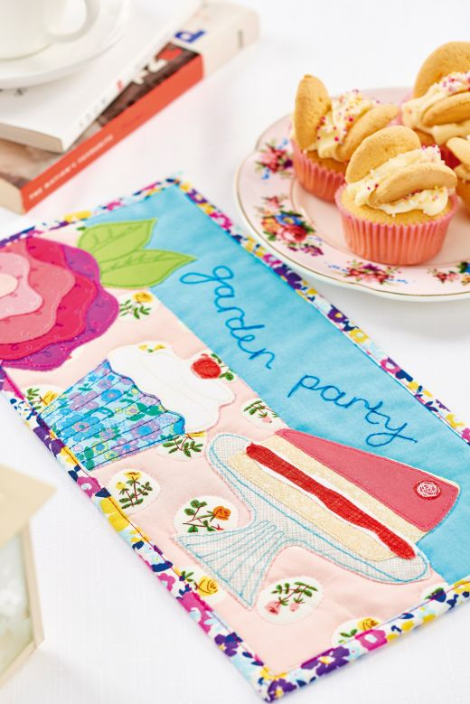 Colourful Garden Party Celebration Card and Runner