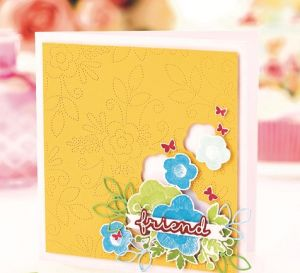 Embroidery-Effect Die-Cut Greetings