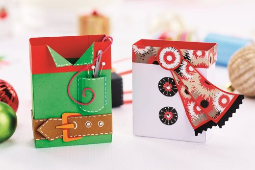 Christmas Gift Boxes Free Craft Project Ace Home Decor Crafts Beautiful Magazine