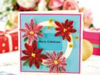 Quilled Christmas Poinsettias
