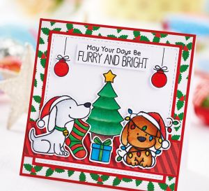 Festive Pets Die-Cut Card