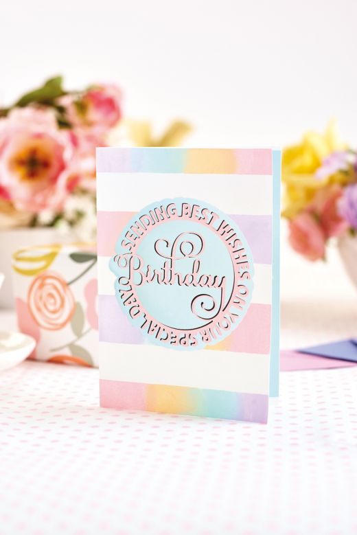 Showstopping Die-Cut Birthday Greeting