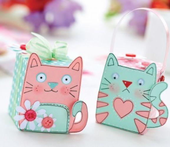 Cat Motifs & Gift Box Templates - Free Card Making ...