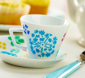 Contemporary Cup & Saucer China Painting Project