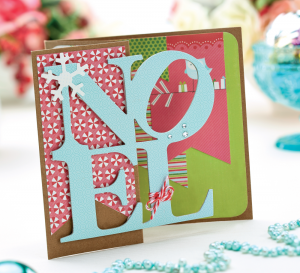 Die-Cut Noel Christmas Cards