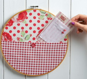 Embroidery Hoop Wall Pocket