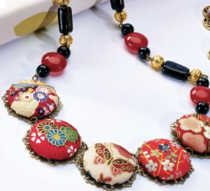 Silk Road Five Button Necklace