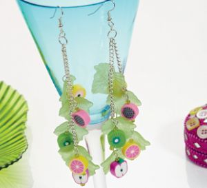 Fruit Fusion Chain Earrings