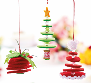 Hanging Felt Christmas Decorations