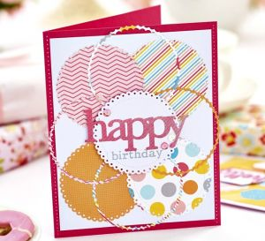 Happy Die-Cut Cards