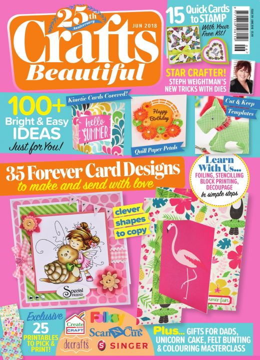 Crafts Beautiful June 2018 Issue 319 Template Pack