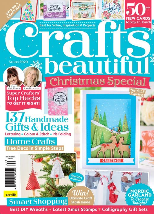 Crafts Beautiful Christmas Special 2020 Issue 351 Template Pack