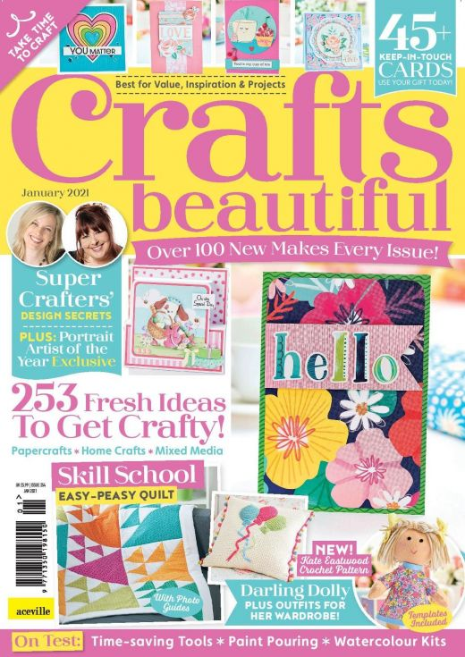 Crafts Beautiful January 2021 Issue 354 Template Pack