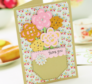 Punched Flowers Card Project