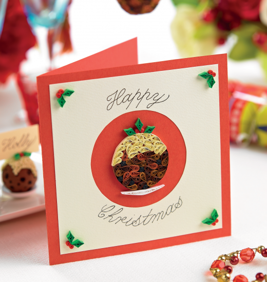 Quilled Christmas Puddings