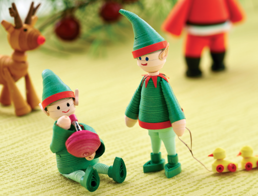 Quilled Elves