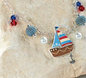Make Seaside Boat Necklace