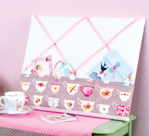 Tea Party Noticeboard & Storage Tins