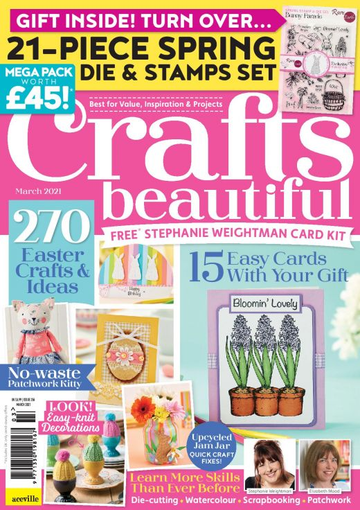 Crafts Beautiful March 2021 Issue 356 Template Pack