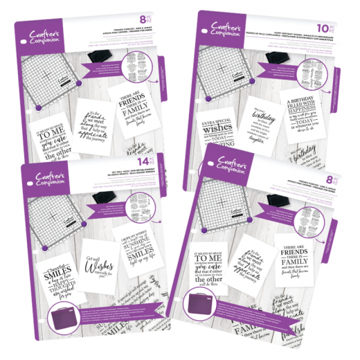 Win a Crafter's Companion Designer Verse Stamp Bundle
