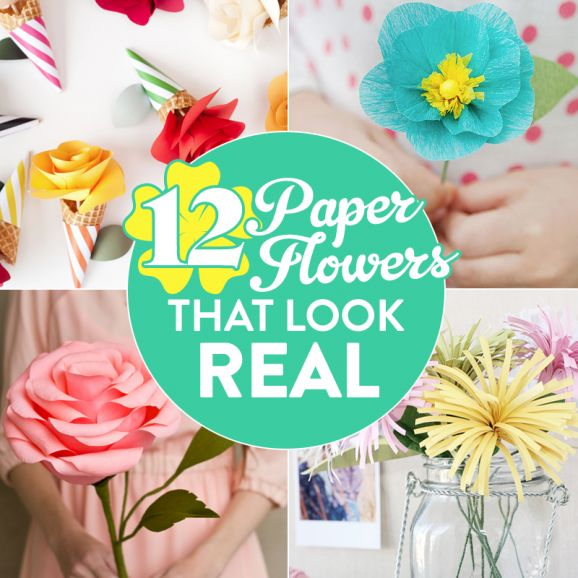 12 Paper Flowers That Look Real Blog Crafts Beautiful Magazine