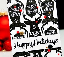 Spellbinders Happy Holidays Card