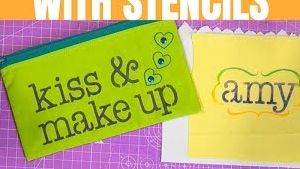 Customising a Makeup Bag with Stencils