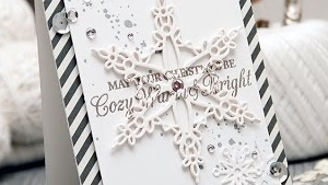 Spellbinders Cozy, Warm & Bright Christmas Card by Yana Smakula