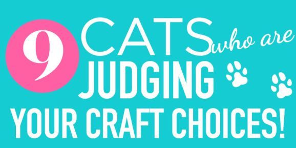 9 Cats Who Are Judging Your Craft Choices