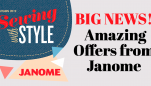 Amazing Offers from Janome 'Sewing with Style'