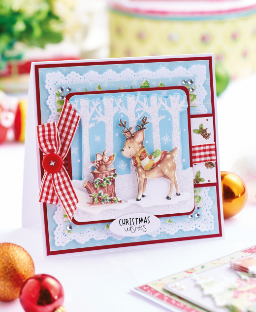 Decoupage Woodland Christmas Cards , Free Card Making