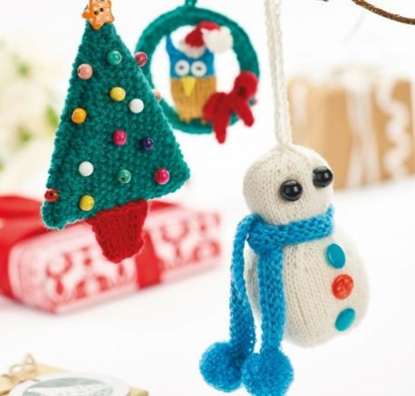 Simple Knitting Patterns Christmas Decorations : Our Crafty Christmas Countdown! - Free Craft Project   - Crafts Beautiful Mag...