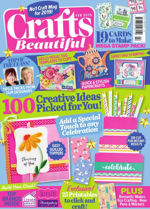 Crafts Beautiful February 2019 Issue 329 Template Pack
