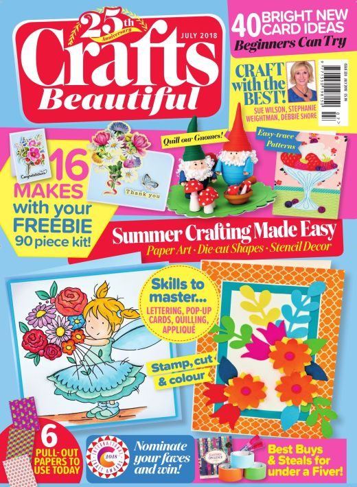 Crafts Beautiful July 2018 Issue 320 Template Pack
