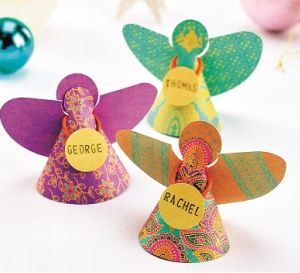 Handmade Christmas Paper Angels