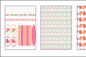 Crafts Beautiful July 2009 (issue 203) Template Pack & Free Papers